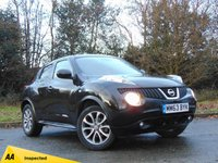 USED 2014 63 NISSAN JUKE 1.5 TEKNA DCI 5d 110 BHP FULL LEATHER INTERIORS AND SATELLITE NAVIGATION
