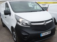 2014 VAUXHALL VIVARO 1.6 2900 L1H1 CDTI P/V 1d 115 BHP, IN STUNNING CONDITION £SOLD