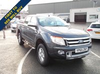 USED 2015 65 FORD RANGER 2.2 LIMITED 4X4 DCB TDCI 1d 148 BHP