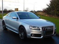 "USED 2009 09 AUDI A5 4.2 S5 FSI QUATTRO 3d AUTO 354 BHP SAT NAV, LEATHER, B&O SPEAKERS, 20"" ALLOYS"