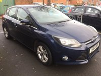 USED 2012 61 FORD FOCUS 1.6 ZETEC 5d AUTO 124 BHP WITH A FRONT HEATED WINDSCREEN, ALLOY WHEELS, AIR CONDITIONING  AND PARKING SENSORS!..EXCELLENT FUEL ECONOMY!!..LOW CO2 EMISSIONS..LOW ROAD TAX...FULL FORD HISTORY...ONLY 14812 MILES FROM NEW!