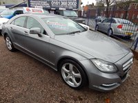 USED 2011 61 MERCEDES-BENZ CLS CLASS 3.0 CLS350 CDI BLUEEFFICIENCY 4d AUTO 265 BHP BLACK LEATHER, SAT NAV, ALLOYS. F.S.H