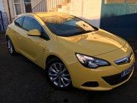 USED 2013 13 VAUXHALL ASTRA 2.0 GTC SRI CDTI S/S 3d 162 BHP Stunning GTC in Yellow