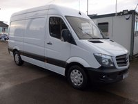 2015 MERCEDES-BENZ SPRINTER 313 CDI MWB HI ROOF, 130 BHP [EURO 5], ELECTRIC PACK, AIR CON, SATNAV £12495.00