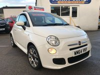USED 2014 FIAT 500 1.2 S 3d 69 BHP Only 25716 miles, Bluetooth, £30 TAX, 12 months MOT