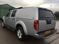 USED 2014 64 NISSAN NAVARA 2.5 DCI TEKNA 4X4 SHR DCB 1d 188 BHP CANOPY SAT NAV LEATHER ONE OWNER FSH NO FINANCE REPAYMENTS FOR 2 MONTHS STC. COMMERCIAL (£12400+2480VAT).4WD. SNUGTOP CANOPY. SATELLITE NAVIGATION. STUNNING SILVER MET WITH FULL BLACK LEATHER TRIM. ELECTRIC HEATED SEATS, CRUISE CONTROL. AIR CON. SIDE STEPS. 17 INCH ALLOYS. COLOUR CODED TRIMS. PRIVACY GLASS. PRIVACY GLASS. CARGO LINING. REVERSING CAMERA. ROOF RAILS. BLUETOOTH PREP. PAS. R/CD PLAYER. 6 SPEED MANUAL. MFSW. MOT 11/18. ONE OWNER FROM NEW. FULL SERVICE HISTORY. FCA FINANCE APPROVED DEALER. TEL 01937 849492