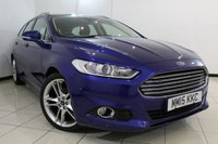 USED 2015 15 FORD MONDEO 2.0 TITANIUM TDCI 5DR 177 BHP FULL SERVICE HISTORY + SAT NAVIGATION + REVERSE CAMERA + PARKING SENSOR + BLUETOOTH + MULTI FUNCTION WHEEL + 17 INCH ALLOY WHEELS