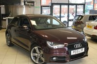 USED 2015 15 AUDI A1 1.4 TFSI S LINE BLACK EDITION 3d 138 BHP FULL SERVICE HISTORY + HALF BLACK LEATHER SEATS + BLUETOOTH + 18 INCH ALLOYS + £20 ROAD TAX + REAR PARKING SENSORS + LED DRL'S + FRONT SPORT SEATS + ELECTRIC WINDOWS