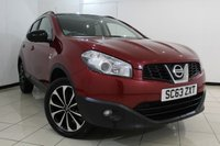USED 2013 63 NISSAN QASHQAI 1.6 DCI 360 IS 5DR 130 BHP NISSAN SERVICE HISTORY + 0% FINANCE AVAILABLE T&C'S APPLY + HALF LEATHER SEATS + CRUISE CONTROL + PANORAMIC ROOF + BLUETOOTH + REVERSE CAMERA WITH 360 DEGREE VIEW + MULTI FUNCTION WHEEL + 18 INCH ALLOY WHEELS