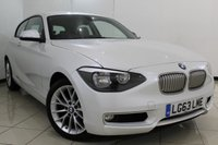 USED 2014 63 BMW 1 SERIES 2.0 120D URBAN 3DR 181 BHP FULL BMW SERVICE HISTORY + 0% FINANCE AVAILABLE T&C'S APPLY + HALF LEATHER SEATS + BLUETOOTH + CRUISE CONTROL + PARKING SENSOR + MULTI FUNCTION WHEEL + 17 INCH ALLOY WHEELS