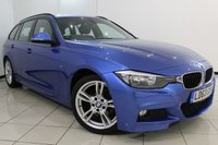 USED 2013 63 BMW 3 SERIES 2.0 320D M SPORT TOURING 5DR 181 BHP BMW SERVICE HISTORY + LEATHER SEATS + BLUETOOTH + CRUISE CONTROL + PARKING SENSOR + MULTI FUNCTION WHEEL + 18 INCH ALLOY WHEELS