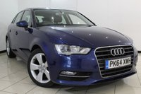 USED 2014 64 AUDI A3 2.0 TDI SPORT 5DR 148 BHP FULL AUDI SERVICE HISTORY + BLUETOOTH + MULTI FUNCTION WHEEL + CIMATE CONTROL + 17 INCH ALLOY WHEELS