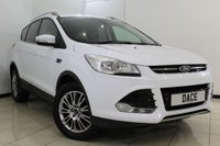 USED 2013 63 FORD KUGA 2.0 TITANIUM TDCI 2WD 5DR 138 BHP FULL FORD SERVICE HISTORY + HALF LEATHER SEATS + BLUETOOTH + CRUISE CONTROL + MULTI FUNCTION WHEEL + CLIMATE CONTROL + RADIO/CD + 17 INCH ALLOY WHEELS