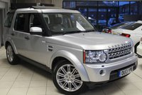 USED 2013 13 LAND ROVER DISCOVERY 4 3.0 4 SDV6 HSE 5d AUTO 255 BHP FULL BLACK LEATHER SEATS + FULL SERVICE HISTORY + SAT NAV + ELECTRIC SUN ROOF + REVERSE CAMERA + BLUETOOTH + 20 INCH ALLOYS + FRONT AND REAR HEATED SEATS + XENONS HEADLIGHTS + 7 SEATER + DETACHABLE TOW BAR