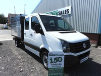 2015 VOLKSWAGEN CRAFTER 2.0 CR35 TDI DCB TIPPER 136 BHP ARBORIST HI SIDE TIPPER CHOICE £19495.00