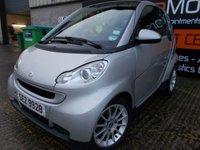 USED 2007 SMART FORTWO 1.0 PASSION 2d AUTO 70 BHP Excellent City Car, Superb Condition, Super Low Mileage