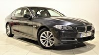 USED 2013 63 BMW 5 SERIES 2.0 520D SE 4d AUTO 181 BHP + 1 OWNER +  SAT NAV + AIR CON + SERVICE HISTORY + LEATHER SEATS