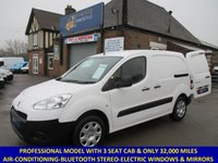 2014 PEUGEOT PARTNER PROFESSIONAL WITH 3 SEATS, AIR-CON & BLUETOOTH STEREO. £6195.00