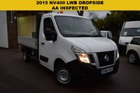 USED 2015 64 NISSAN NV400 2.3 DCI SE H/R P/V 1d 125 BHP Just £10499 + vat for this 2015 Nissan NV400 2.3dci 125 L2 SE DROPSIDE with SAT NAV, BLUETOOTH, CRUISE CONTROL, PARK SENSORS AND A SECURE METAL TOOL BOX.