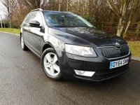 USED 2014 64 SKODA OCTAVIA 1.6 SE BUSINESS TDI CR 5d 103 BHP *Zero road tax*Sat Nav*1 Owner*Bluetooth*