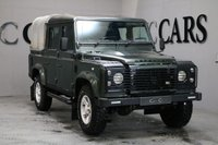 USED 2007 57 LAND ROVER DEFENDER 2.4 110 XS DCi 5door 122 BHP NO VAT TO PAY FULL BLACK HEATED LEATHER KENWOOD SAT NAV WITH REVERSE CAMERA AND BLUETOOTH SIDE STEPS COMPREHENSIVE SERVICE HISTORY TOWPACK TWO KEYS