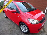 2014 SKODA CITIGO 1.0 SE 12V 5d 59 BHP Air Conditioned, Low Mileage Bargain £5489.00