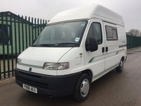USED 2001 Y FIAT BESSA CARR  E350.FIAT DUCATO 1.9.TD RARE 2 BERTH MODEL, LOW MILEAGE, 2X FRONT CAPTAIN SEATS, FRONT LOUNGE WITH LARGE HEIKI ROOF LIGHT, 3 FORWARD BELTED TRAVELLING SEATS, REAR KITCHEN, 3 WAY FRIDGE, 3 BURNER HOB, OVEN & GRILL, REAR WASHROOM & SHOWER, CARVER BLOWN AIR HEATING & HOT WATER SYSTEM, LOOSE FIT CARPETS, FLY SCREENS, 240 VOLT HOOK UP, ON BOARD FRESH AND WASTE WATER TANKS.