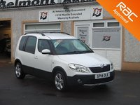 USED 2014 14 SKODA ROOMSTER 1.6 SCOUT TDI CR 5d 103 BHP 3 Service Stamps , Leathr steering wheel , 16 Inch alloys