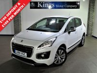 USED 2014 14 PEUGEOT 3008 1.6 E-HDI ACTIVE 5dr New Shape, £20 Road Tax, FSH , Stunning Pearlescent White Met