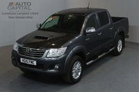 USED 2015 15 TOYOTA HI-LUX 3.0 INVINCIBLE 4X4 D-4D AUTO 169 BHP A/C LEATHER SEAT ONE OWNER FROM NEW, FULL SERVICE HISTORY