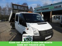 USED 2014 14 FORD TRANSIT 2.2 350 L3  DRW 125 BHP TWIN WHEEL TIPPER REAR STORAGE CHOICE LARGE CHOICE OF TIPPERS IN STOCK OPEN 7 DAYS