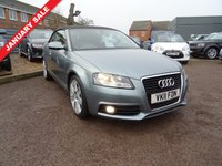 USED 2011 11 AUDI A3 2.0 TFSI S LINE 2d 197 BHP It has had 1 former keeper an MOT and a service book showing 2 Audi services & 1 other.