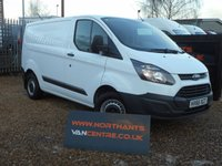 2016 FORD TRANSIT CUSTOM VAN, 2.2 290 LR P/V 5d 100 BHP ECO TECH £11990.00
