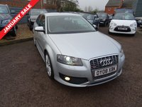 USED 2008 08 AUDI A3 2.0 S3 TFSI QUATTRO 3d 262 BHP It has a service book showing 9 Audi service stamps, an MOT, x2 keys & a manual pack and has had 1 previous keeper.
