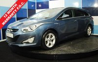 USED 2013 63 HYUNDAI I40 1.7 PREMIUM BLUE DRIVE CRDI 5d 134 BHP A truely wonderfull example of this highly sought after family diesel estate This car comes with a very high specification including full leather interior, satelite navigation ,climate control ,bluetooth electric seats front and rear parking sensors plus lots lots more really does have everything  and returns a very creditable combined mpg of 62.8 and road fund licenceof £30 a year