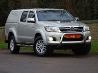 USED 2011 61 TOYOTA HI-LUX Toyota Hilux 3.0 D-4D Invincible Double Cab Pickup 4dr SATNAV LEATHER REAR CANOPY