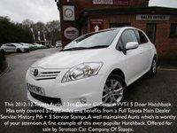 USED 2012 12 TOYOTA AURIS 1.3 VVT-I COLOUR COLLECTION 5d 99 BHP