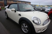 USED 2010 10 MINI CONVERTIBLE 1.6 COOPER 2d AUTO 122 BHP LOW DEPOSIT OR NO DEPOSIT FINANCE AVAILABLE.