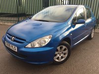 USED 2005 05 PEUGEOT 307 2.0 S HDI 5d 89 BHP AIR CON ALLOYS MOT 06/18 STUNNING BLUE WITH BLACK CLOTH TRIM. 15 INCH ALLOYS. COLOUR CODED TRIMS. AIR CON. R/CD PLAYER. MOT 06/18. VOSA HISTORY. AGE/MILEAGE RELATED SALE. TEL. 01937 849492.