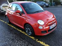 USED 2014 14 FIAT 500 0.9 TWINAIR S 3d 85 BHP PRICE INCLUDES A 6 MONTH AA WARRANTY DEALER CARE EXTENDED GUARANTEE, 1 YEARS MOT AND A OIL & FILTERS SERVICE. 6 MONTHS FREE BREAKDOWN COVER.