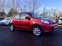 2011 NISSAN MICRA 1.2 ACENTA 5d  FRESH MOT AND ONLY £30 A YEAR TAX £4500.00