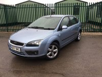 USED 2007 07 FORD FOCUS 1.6 ZETEC CLIMATE 5d 100 BHP AIR CON ALLOYS MOT 04/18 BLUE MET WITH BLACK CLOTH TRIM. 16 INCH ALLOYS. COLOUR CODED TRIM. AIR CON. R/CD PLAYER. MFSW. MOT 02/18. AGE/MILEAGE RELATED SALE. TEL 01937 849492