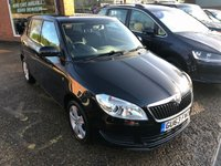 USED 2013 63 SKODA FABIA 1.6 SE TDI CR 5 DOOR 103 BHP IN BLACK IN IMMACULATE CONDITION.  APPROVED CARS ARE PLEASED TO OFFER THIS  SKODA FABIA 1.6 SE TDI CR 5 DOOR 103 BHP IN BLACK IN IMMACULATE CONDITION INSIDE AND OUT WITH A FULL SERVICE HISTORY SERVICED AT 22K,40K AND 48K AN IDEAL RUNAROUND THATS VERY CHEAP TO RUN.