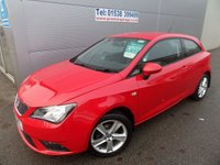 USED 2014 14 SEAT IBIZA 1.4 TOCA 3d 85 BHP 40000 MILES 1 OWNER FSH RED