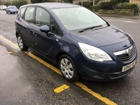USED 2011 60 VAUXHALL MERIVA 1.7 S 5d 128 BHP PRICE INCLUDES A 6 MONTH AA WARRANTY DEALER CARE EXTENDED GUARANTEE, 1 YEARS MOT AND A OIL & FILTERS SERVICE. 6 MONTHS FREE BREAKDOWN COVER