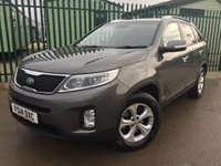 USED 2014 14 KIA SORENTO 2.2 CRDI KX-2 SAT NAV 5d AUTO 194 BHP 7 SEATER LEATHER ONE OWNER FSH NO FINANCE REPAYMENTS FOR 2 MONTHS STC. 4WD. FACELIFT. 7 SEATER. SATELLITE NAVIGATION. STUNNING GREY MET WITH FULL BLACK LEATHER TRIM. HEATED SEATS. CRUISE CONTROL. 17 INCH ALLOYS. COLOUR CODED TRIMS. PARKING SENSORS. REVERSING CAMERA. BLUETOOTH PREP. CLIMATE CONTROL. MONITOR. TRIP COMPUTER. R/CD PLAYER. MFSW. MOT 12/18. ONE OWNER FROM NEW. FULL SERVICE HISTORY. FCA FINANCE APPROVED DEALER. TEL 01937 849492