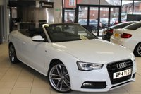 USED 2014 14 AUDI A5 3.0 TDI QUATTRO S LINE SPECIAL EDITION 2d AUTO 242 BHP FULL AUDI SERVICE HISTORY + FULL BLACK LEATHER SEATS + SAT NAV + BLUETOOTH + 19 INCH ALLOYS + FRONT AND REAR HEATED SEATS + NECK SCARF + CRUISE CONTROL + DAB RADIO + REVERSE CAMERA + XENON HEADLIGHTS