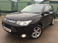 USED 2014 14 MITSUBISHI OUTLANDER 2.3 DI-D GX 4 5d AUTO 147 BHP 7 SEATER SAT NAV PAN ROOF LEATHER FSH NO FINANCE REPAYMENTS FOR 2 MONTHS STC. 4WD. SATELLITE NAVIGATION. SUNROOF. STUNNING BLACK MET WITH FULL BLACK LEATHER TRIM. ELECTRIC HEATED SEATS. CRUISE CONTROL. 18 INCH ALLOYS. COLOUR CODED TRIMS. PRIVACY GLASS. REVERSING CAMERA. ELECTRIC TAILGATE. BLUETOOTH PREP. AIR CON. R/CD PLAYER. PADDLESHIFT AUTO. MFSW. MOT 12/18. ONE PREV OWNER. FULL SERVICE HISTORY. FCA FINANCE APPROVED DEALER. TEL 01937 849492