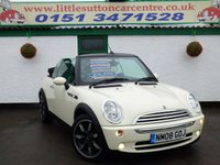 2008 MINI CONVERTIBLE 1.6 COOPER SIDEWALK 2d 114 BHP £3799.00