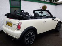 USED 2008 08 MINI CONVERTIBLE 1.6 COOPER SIDEWALK 2d 114 BHP CONVERTIBLE, FULL LEATHER, 12 MONTHS MOT
